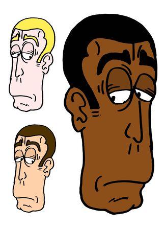 expressive: Expressive face Illustration
