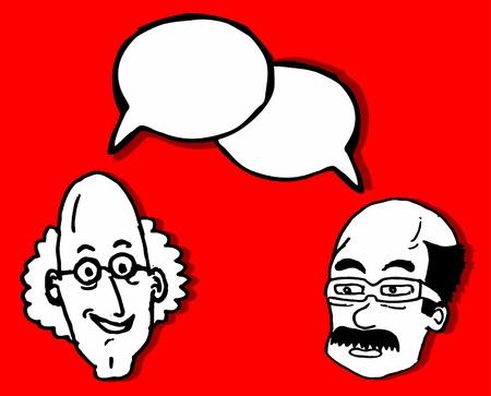 comic duo: People talking