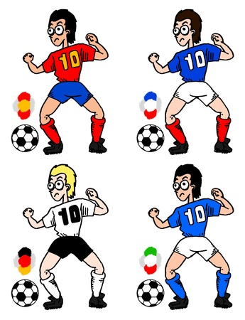 Soccer nations cartoon Vector