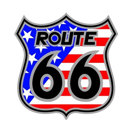 66: Route 66 emblem Illustration