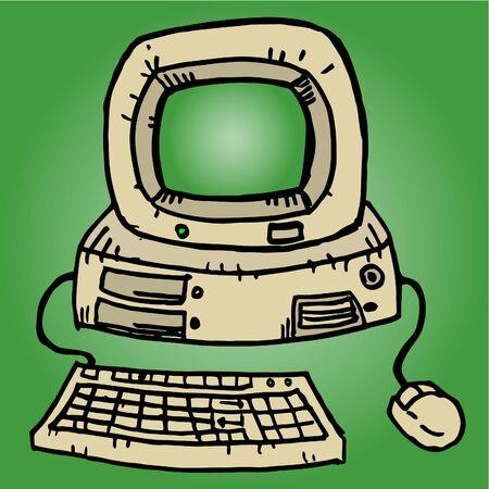 Computer vintage Vector