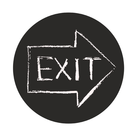 Exit symbol Illustration