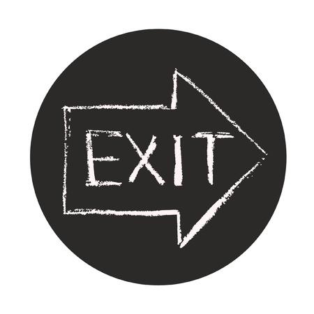 salida de emergencia: Salir s�mbolo