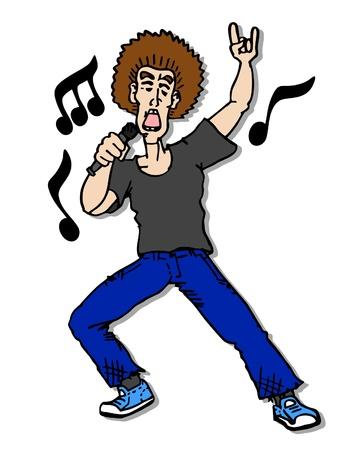Rock singer Vector