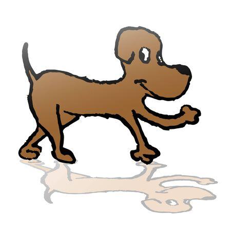 expressive style: Dog draw Illustration