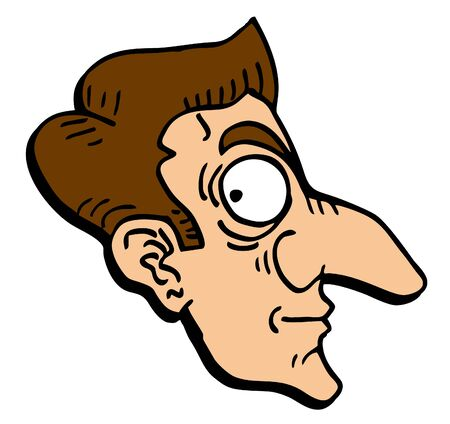 Face cartoon draw Vector