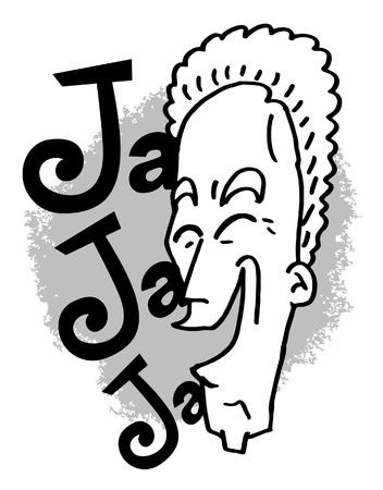 onomatopoeia: Laughter therapy Illustration
