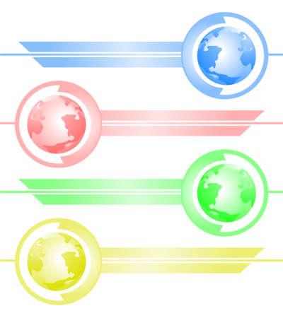international news: World symbol decoration