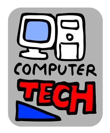 modernity: Creative computer tech design card
