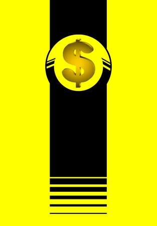 Dollar yellow symbol Stock Vector - 11498663