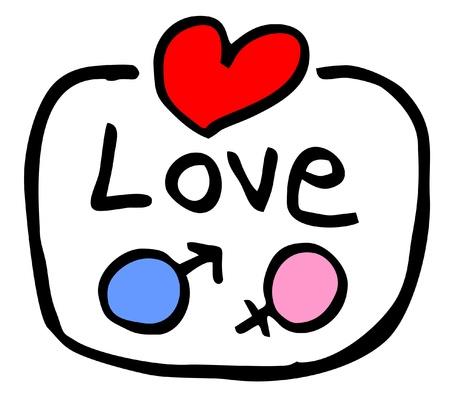 simbolo hombre mujer: Icono del amor