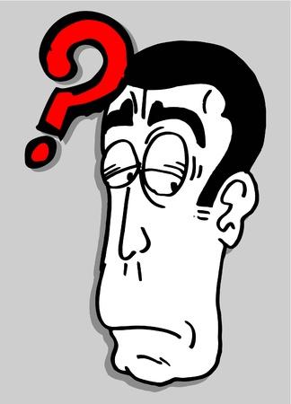 dudando: El hombre dudando Vectores