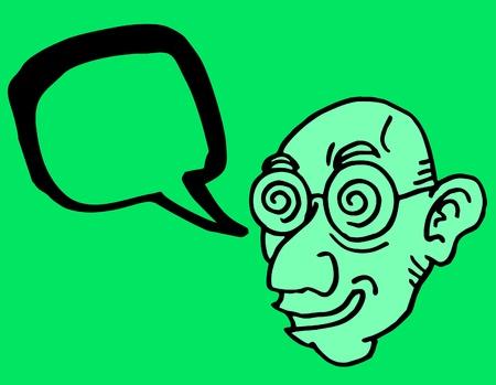miopia: L'uomo Comic disegnare Vettoriali