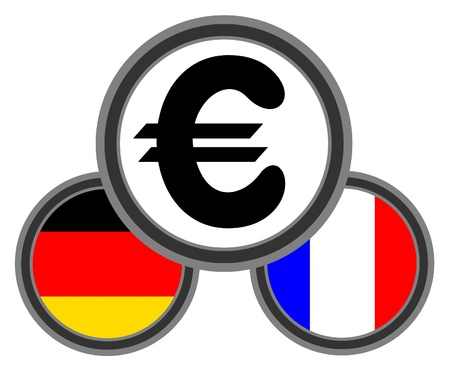 booming: Germany and France euro Illustration