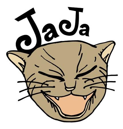 happy cat: Gl�ckliche Katze