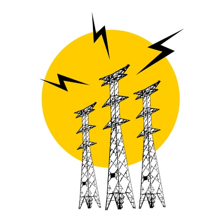 Power tower Vector
