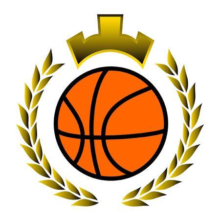 Basket winner emblem Vector