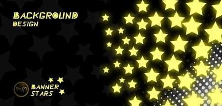 Awards stars banner Vector