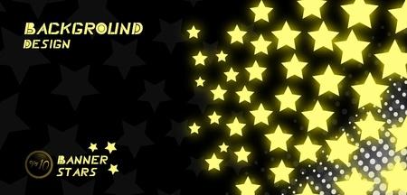 Awards stars banner Vectores