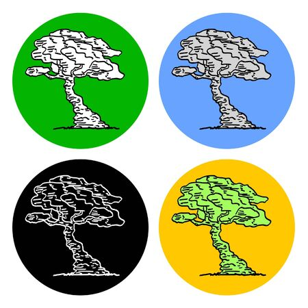Bonsai iconen ontwerp