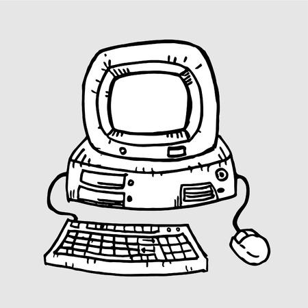 computer cartoon: Computer cartoon Illustration