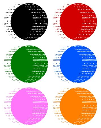 Color buttons icons Stock Vector - 11498747