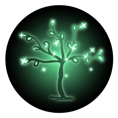 branched: Green tree icon
