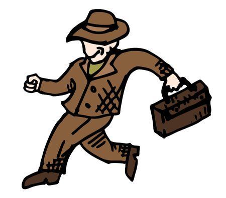 expressive style: Fashion man Illustration