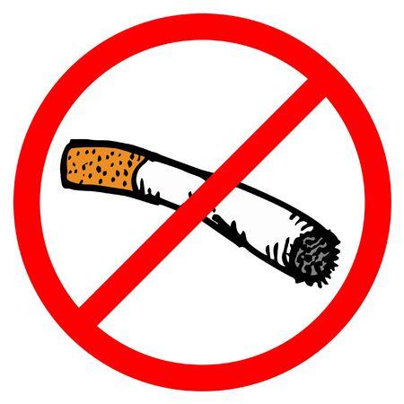 tabaco: No hay señales de fumar Vectores