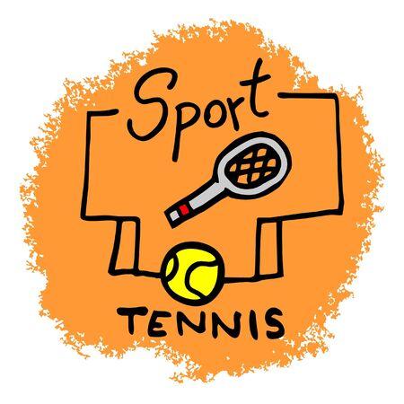 Tennis creative symbol Vector