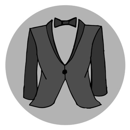black suit: Men fashion