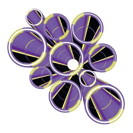 Purple decoration element