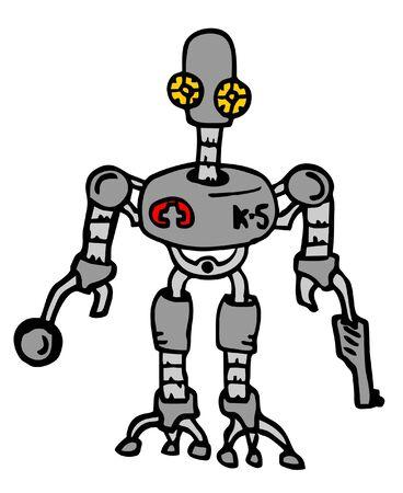 Robot cartoon Stock Vector - 11573528
