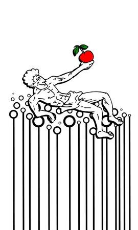 sedate: Apple man