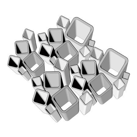 futurist: Abstract build design Illustration