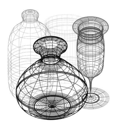 3d vector design Vector
