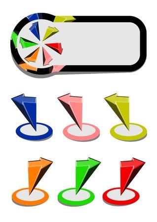 Color arrows and original card Stock Vector - 11821839