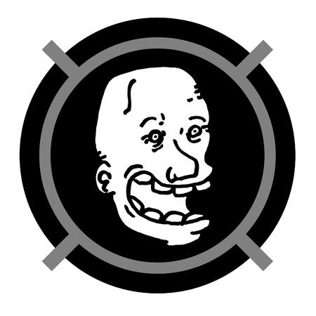 Face and circle frame desgin Stock Vector - 11821879