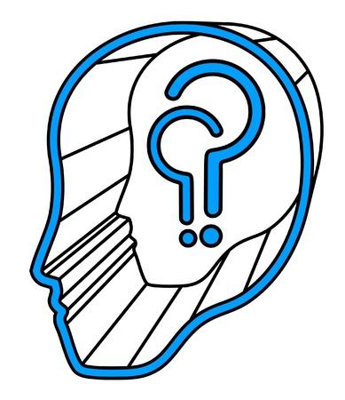 Question face icon Stock Vector - 11821831