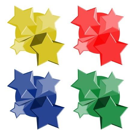 Color stars icon Stock Vector - 11821887