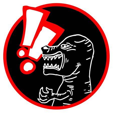 Danger animal icon Stock Vector - 11821878