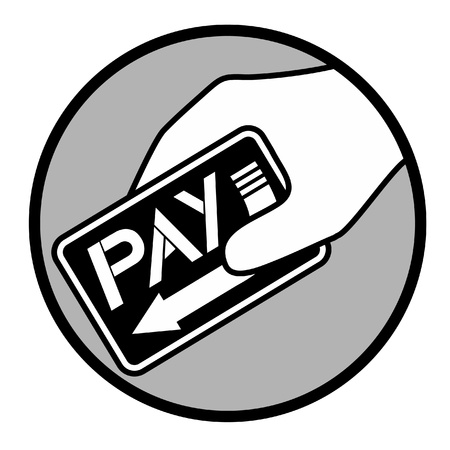payment icon: Pay circle icon Illustration