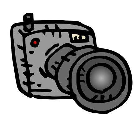 Design of cartoon black cam Vector