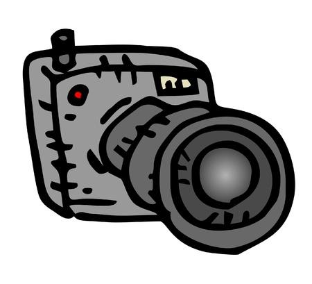 lens unit: Design of cartoon black cam