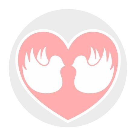 Creative design of love circle icon Ilustração