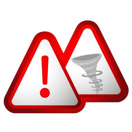 Design of danger hurricane sign Stock Vector - 11822488