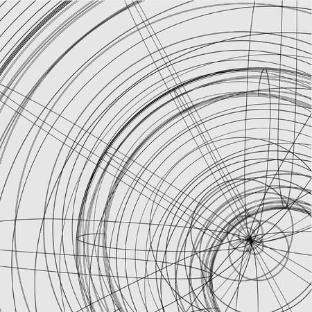ligne: Un design cr�atif de papier peint ligne artistique Illustration