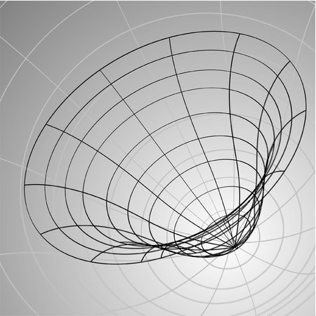 profundity: Vector design of 3d hole Illustration