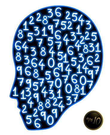 Creative design of numbers face icon Stock Vector - 11823142