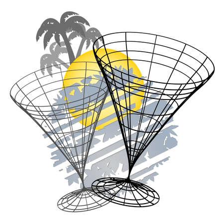 Creative design of summer drink icon Stock Vector - 11823044